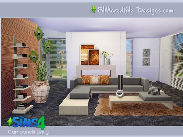 campanelli livingroom by simcredible! at tsr » sims 4 updates, Hause deko