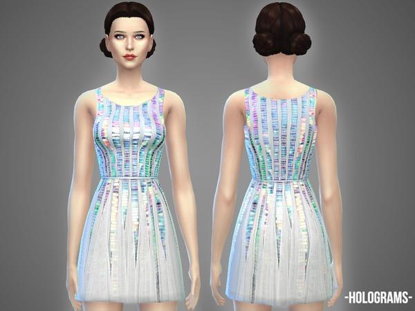 Sims 4 Holograms dress by April at TSR