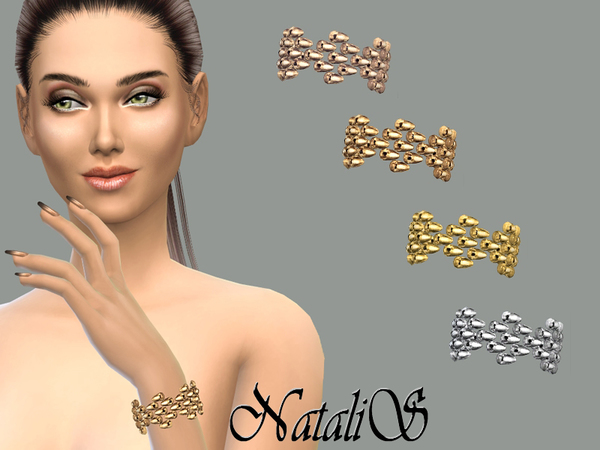 Sims 4 Metal beads bracelet by NataliS at TSR