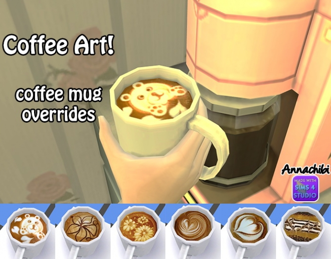 Annachibi's 4 Coffee » Mug Sims At Overrides 6 Updates c5RLAjq34