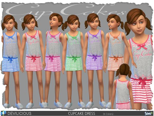Sims 4 CupCake Dress Set by Devilicious at TSR