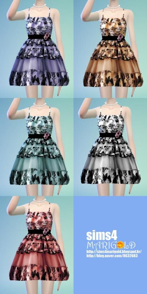 Flower mini dress at Marigold image 1729 Sims 4 Updates