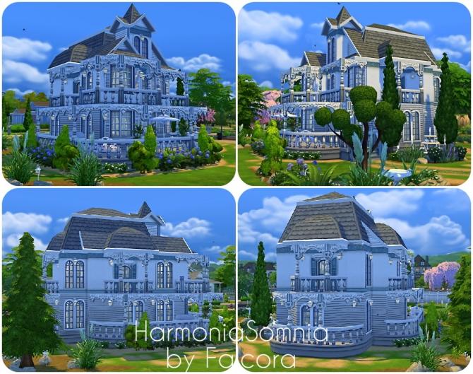 Sims 4 Harmonia Somnia house at Petka Falcora