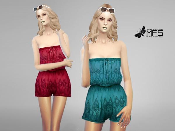 Sims 4 MFS Summer Romper by MissFortune at TSR