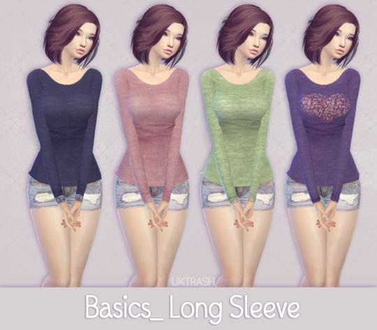 Basic Long Sleeve At Mtndewduhh 187 Sims 4 Updates