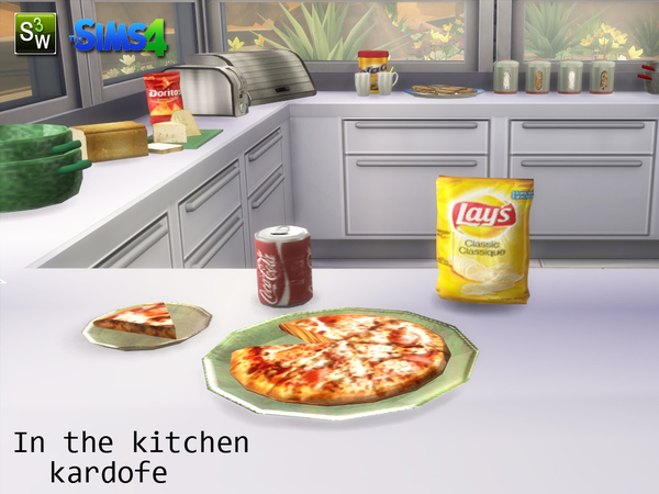 Sims 4 In the kitchen clutter by kardofe at TSR