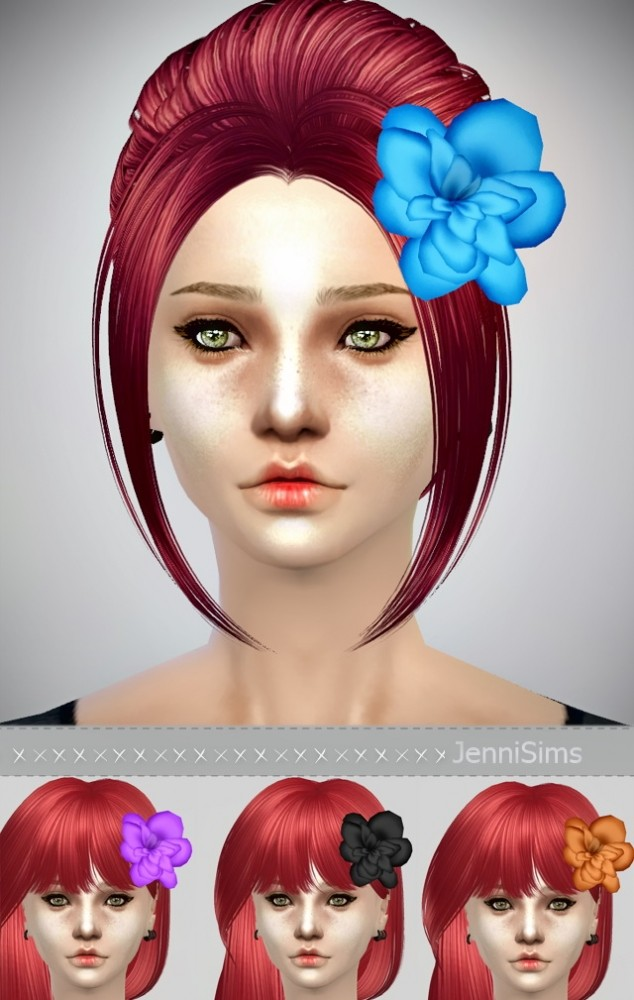 Flower hair accessories at Jenni Sims image 17821 634x1000 Sims 4 Updates