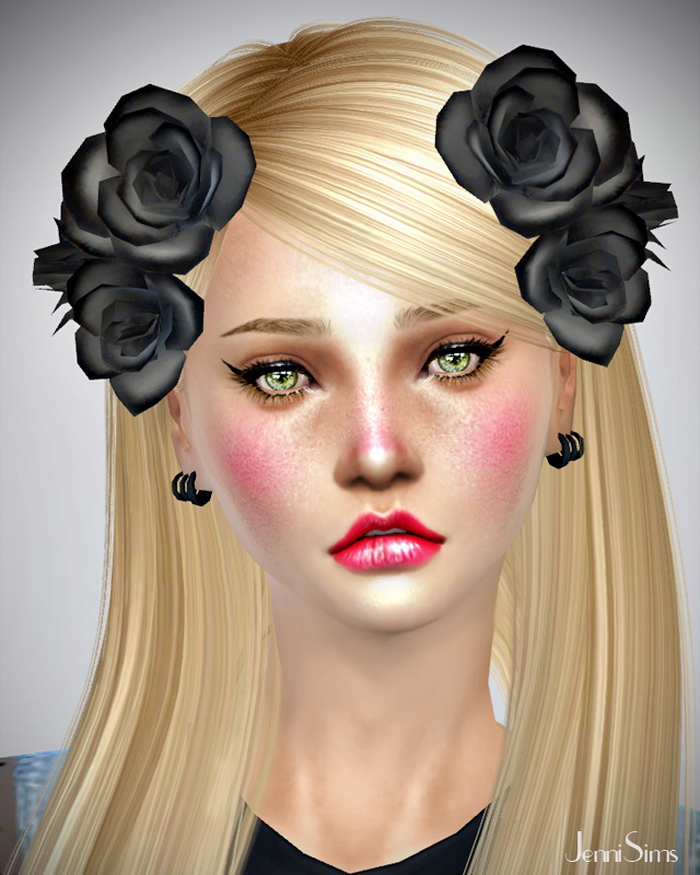 Flower hair accessories at Jenni Sims image 17921 Sims 4 Updates
