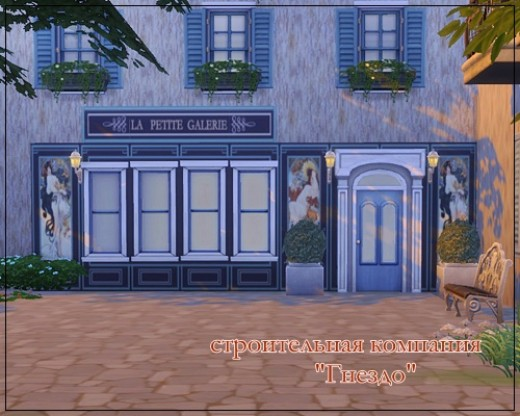 Sims 4 Street stores 01 walls at Sims by Mulena