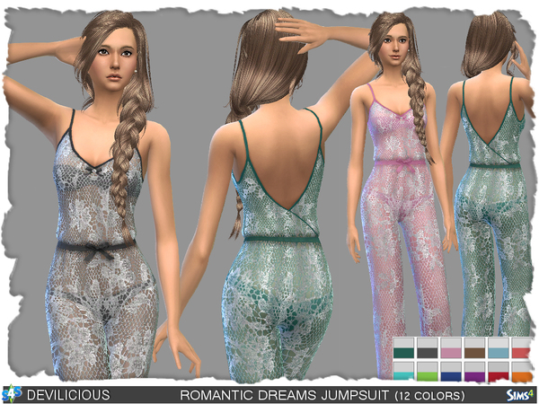 Sims 4 Romantic Dreams Jumpsuit by Devilicious at TSR