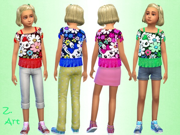 Easter Fun blouses by Zuckerschnute20 at TSR image 1830 Sims 4 Updates