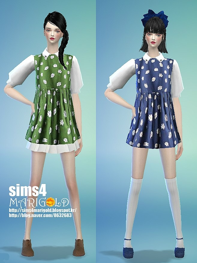 Sims 4 Flower dress at Marigold