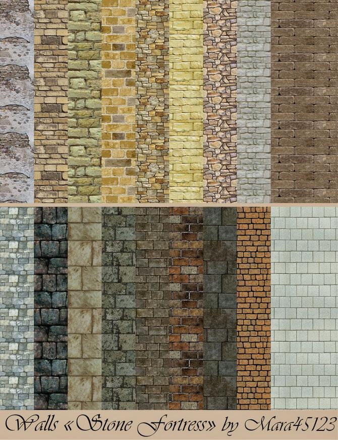 Stone Fortress Walls And Floors At Mara45123 187 Sims 4 Updates