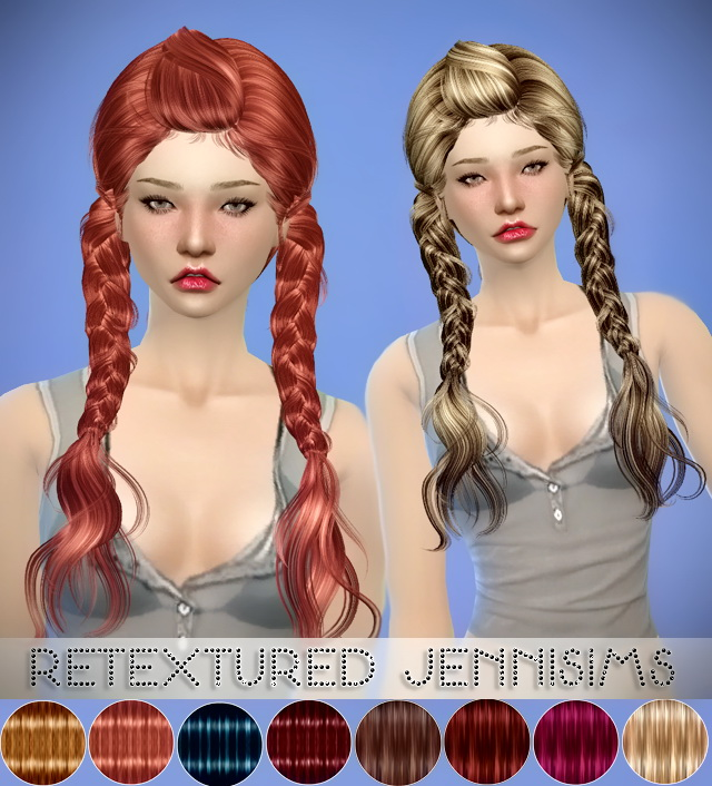 Sims 4 MaySims Hairs Converted Retexture by JenniSims at Jenni Sims