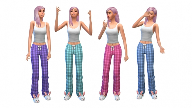 Plaid pajamas at Nyloa image 1901 Sims 4 Updates