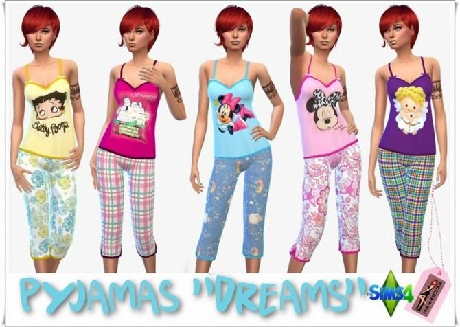 Sims 4 Dreams pyjama at Annett's Sims 4 Welt