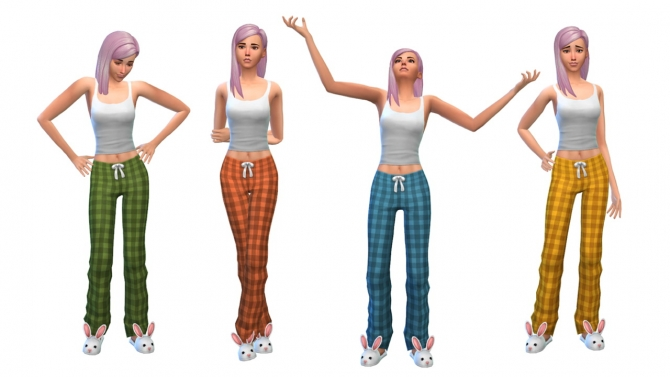 Plaid pajamas at Nyloa image 1912 Sims 4 Updates