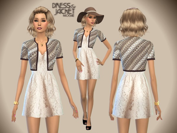 Dress & Jacket by Paogae at TSR image 1916 Sims 4 Updates