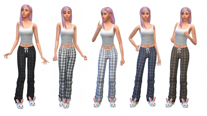 Plaid pajamas at Nyloa image 1921 Sims 4 Updates