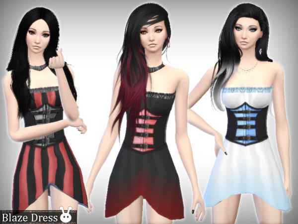 Sims 4 Blaze Dress by XxNikkibooxX at TSR