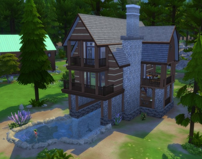 Lake Top Cabin By Missy Harries At Mod The Sims 187 Sims 4