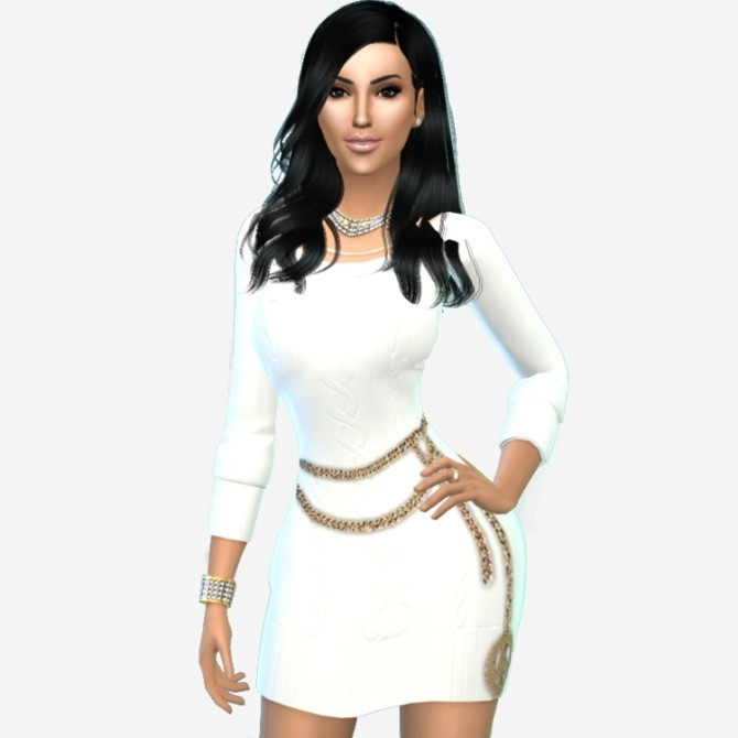Kimberly kardashian by selena at sims celebrities