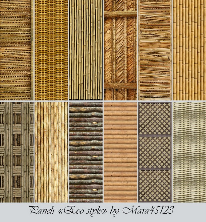 Sims 4 Eco style panels at Mara45123