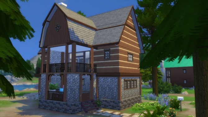 Sims 4 Lake Top Cabin by missy harries at Mod The Sims