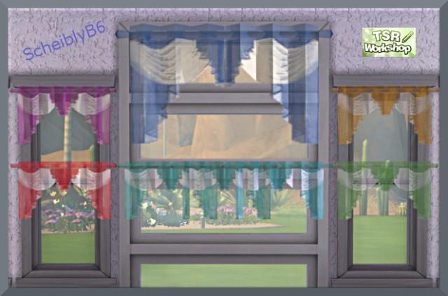Sims 4 Short curtains by Christine1000 at Sims Marktplatz