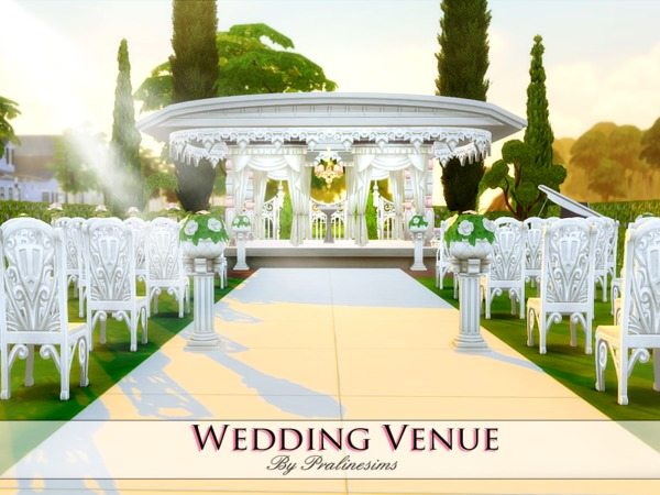 wedding venue by pralinesims at tsr 187 sims 4 updates