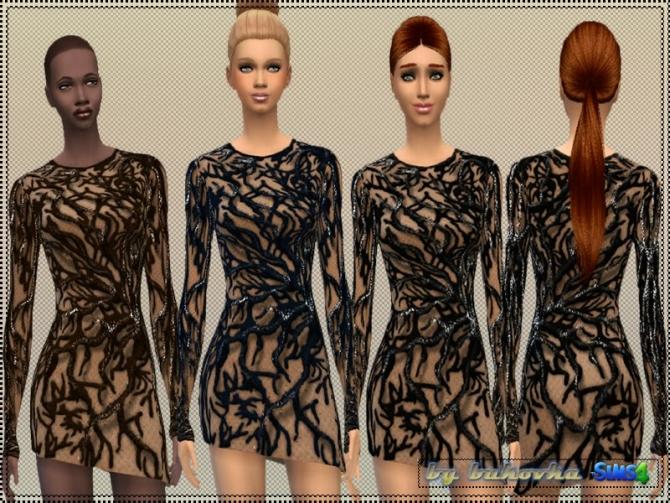 Sims 4 Dress Tree Asymmetry at Bukovka