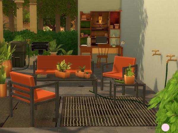 Sims 4 Kern Patio Set by DOT at TSR