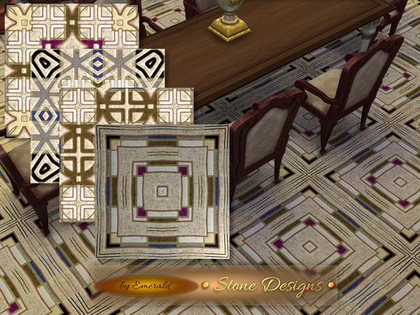 Stone Designs tiles by emerald at TSR image 203 Sims 4 Updates
