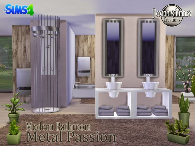 Metal Passion bathroom at Jomsims Creations image 2031 Sims 4 Updates