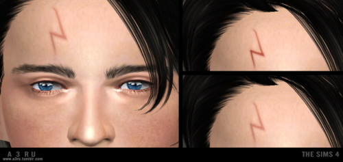 Harry Potter's Lightning Bolt Scar at A3RU image 2035 Sims 4 Updates