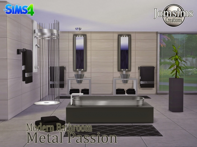 Metal Passion bathroom at Jomsims Creations image 2041 Sims 4 Updates