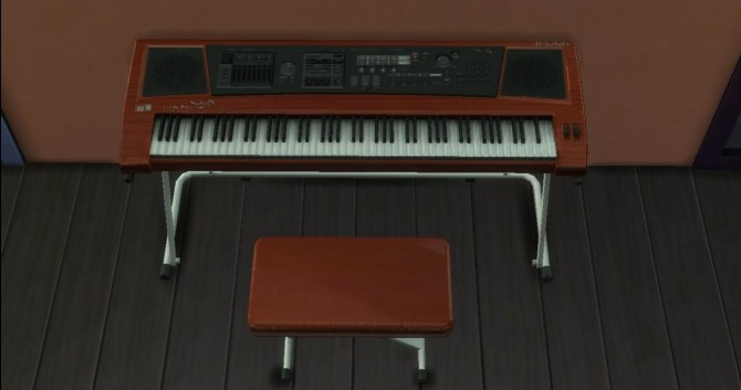 Sims 4 TS4 Keyboard Piano by AdonisPluto at Mod The Sims