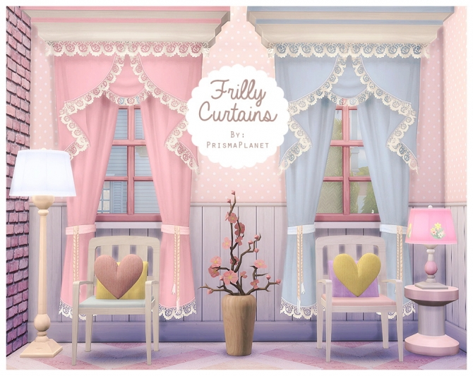 Sims 4 Frilly Curtains at Prisma Planet