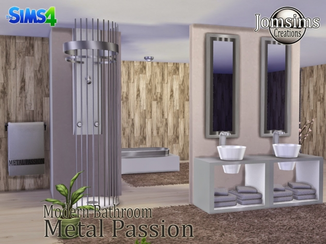 Metal Passion bathroom at Jomsims Creations image 2051 Sims 4 Updates