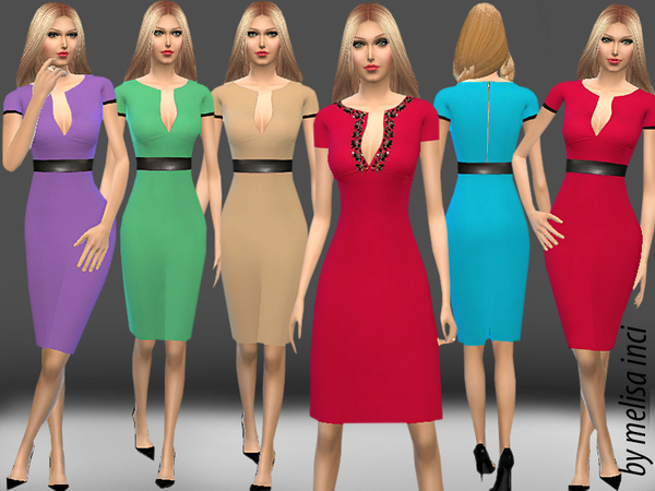 Sims 4 Pencil Dress by melisa inci at TSR