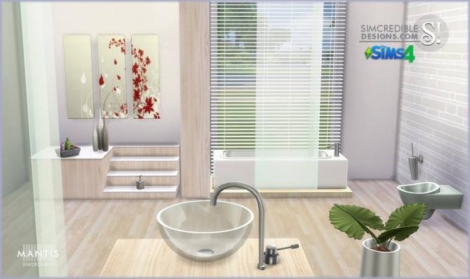 Sims 4 Mantis bathroom at SIMcredible! Designs 4