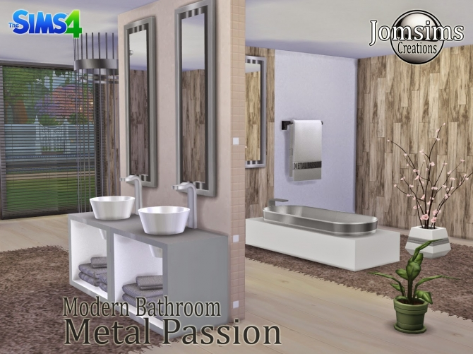 Metal Passion bathroom at Jomsims Creations image 207 Sims 4 Updates
