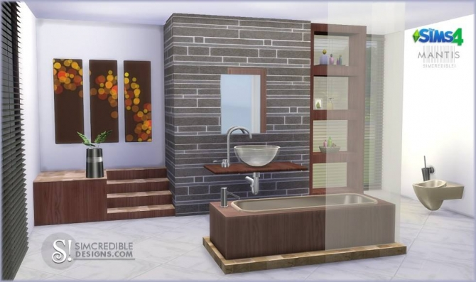 Simcredible designs 4 mantis bathroom sims 4 updates for The sims 3 bathroom ideas