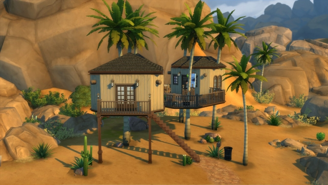 Coconut Tree House By Keexz At Mod The Sims 187 Sims 4 Updates
