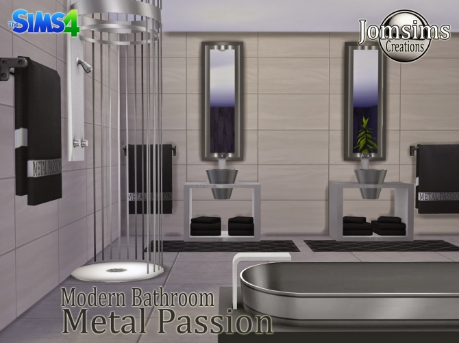 Metal Passion bathroom at Jomsims Creations image 208 Sims 4 Updates