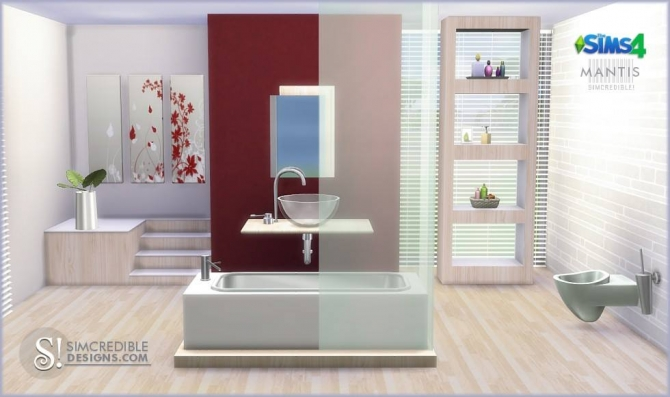 Simcredible designs 4 mantis bathroom sims 4 updates for Bathroom ideas sims 4