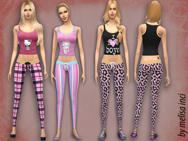Women Pajama Set By Melisa Inci At Tsr 187 Sims 4 Updates