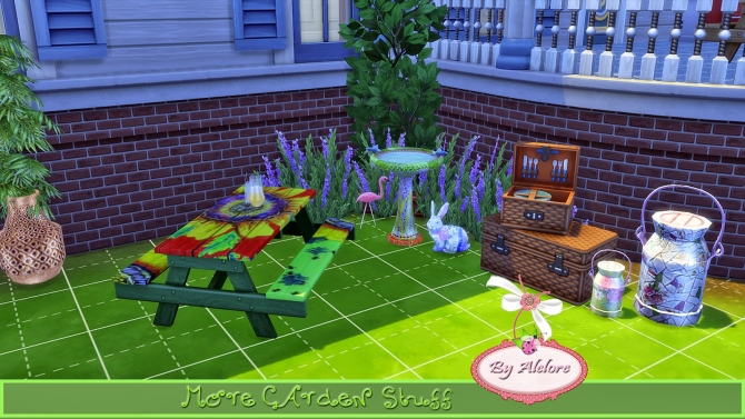 Sims 4 MORE GARDEN STUFF at Alelore Sims Blog