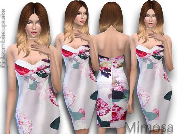 Spring dress Mimosa by Pinkzombiecupcakes at TSR image 21151 Sims 4 Updates