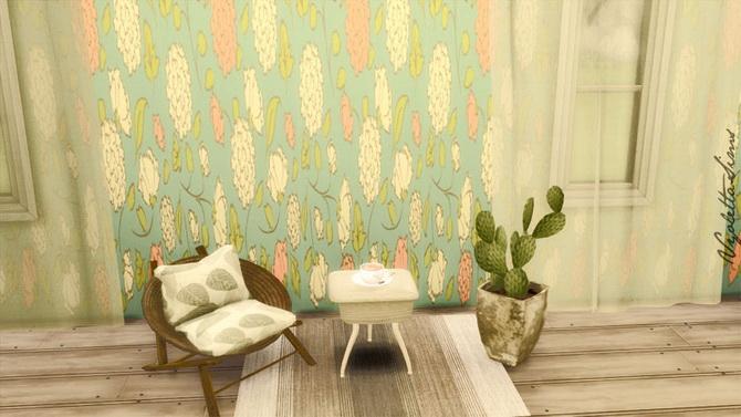 7 Modern Wallpapers At Mandarina S Sim World 187 Sims 4 Updates